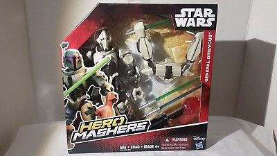 "Star Wars Hero Mashers General Grievous 6"" Action Figure - Brand New!"