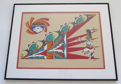 G A Roybal San Ildefonso Pueblo New Mexico Dance Painting