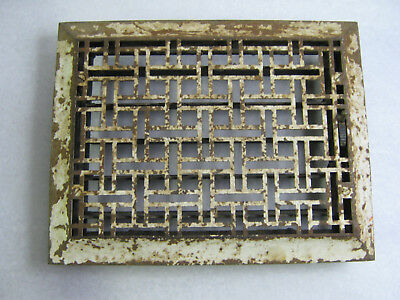 Antique Victorian Cast Iron Floor Heat Grate Register Tuttle & Bailey 1886