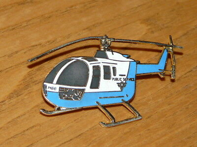 Public Service Helicopter Pin / Tac - Enamel Aviation Pin