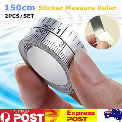 2 x 150cm Measuring Tape Measure Ruler Sticker For Sewing Machine Home Tool