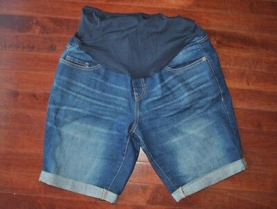 Old Navy Full Panel Maternity Bermuda Jean Shorts, Size 4 (fit like a 6)