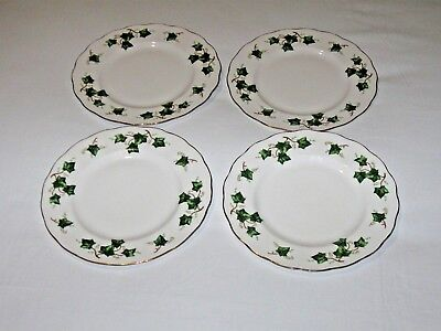 Vintage Cloclough Ivy Leaf(8143) Bone China Salad Plates 21cm8.5in Free UK P&P