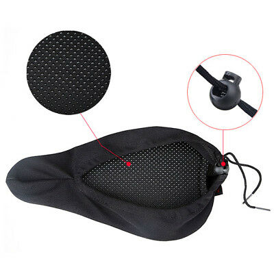 3D Mountain Bike Bicycle Saddle Seat Soft Memory Foam Padded Cover Cushion Pad