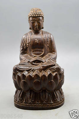 Chinese 100% agalloch eaglewood wood antique hand-carved bodhisattva statue Budd