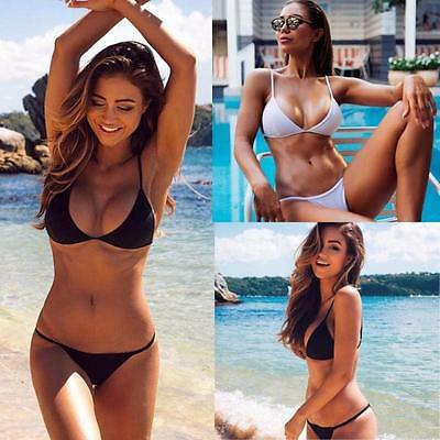 Women Sexy Push-Up Bikini Set Summer Bandeau Padded Swimsuit Beachwear Swimwear
