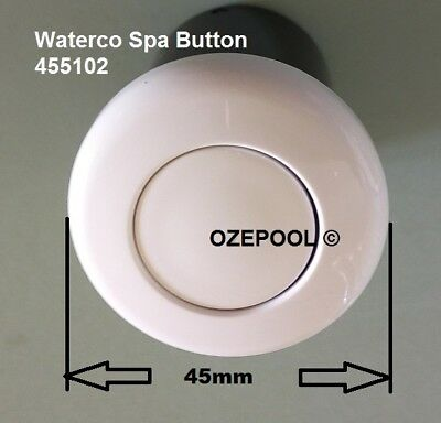 Air Switch WHITE push button, Spa/Insinkerator, EASY FIT top, Waterco 455102