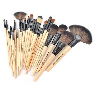 MAKE-UP FOR YOU 24 * wood color makeup brush set Brush make-up tools W5V4 R1F7