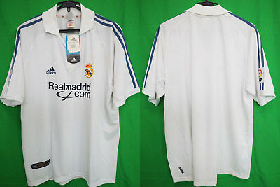 350e1f13d42 2001-2002 Real Madrid Soccer Football Jersey Shirt Camiseta Home Adidas XL  BNWT