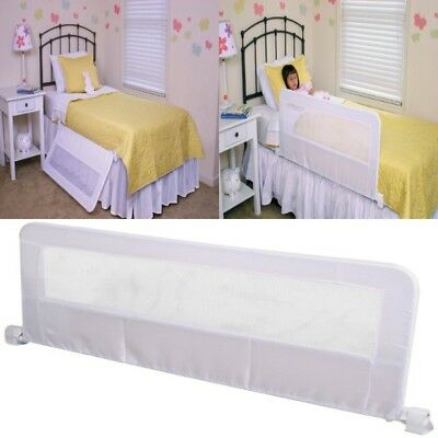 Baby Bed Rail Crib Safety Guard Protection Bedrail For Child Kids Toddler White