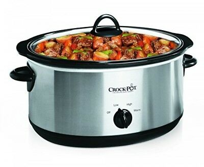 CrockPot 7Quart Oval Manual Slow Cooker, Stainless Steel (SCV700SS)