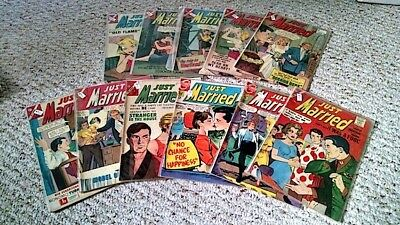 Just Married Comics, 21 Issue Lot, Charlton - 10 & 12 Centers