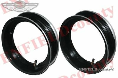 "Rim Units Pair 10"" Wheel Alloy Aluminium Black Tubeless Tyre Vespa Scooter @aud"
