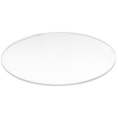Transparent  3mm thick Mirror Acrylic round Disc Diámetro:95mm  X1K9 B0Q0