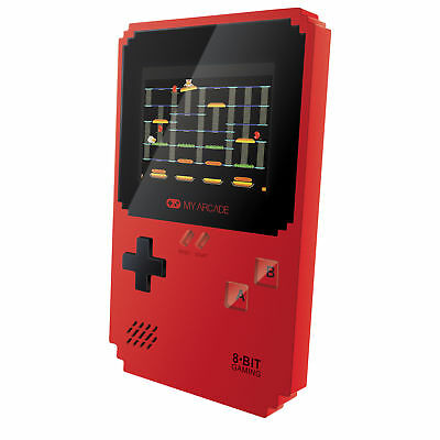 MY ARCADE Pixel Classic Portable Handheld 300 Builtin Video Games+Data East Hits