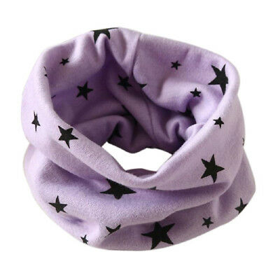 Boys Girls Collar Scarf Cotton O-Ring Neck Scarves (purple) X3T8 I3T1