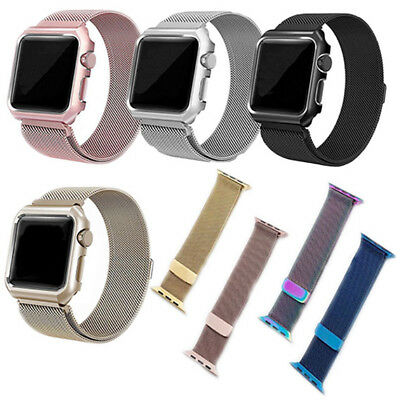 For Apple Watch Milanese Metal Magnetic Loop Band Strap 38/42mmStainless Steel K