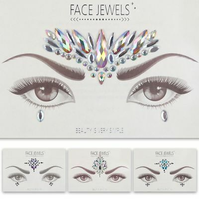 Adhesive Face Gem Rhinestone Jewels Festival Party Body Glitter Shinning Glowing