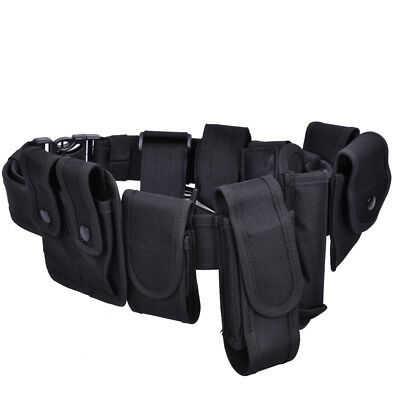 Men Army Military Black MOLLE Girdle Tactical Outer Waist Belt CS Airsoft Belts