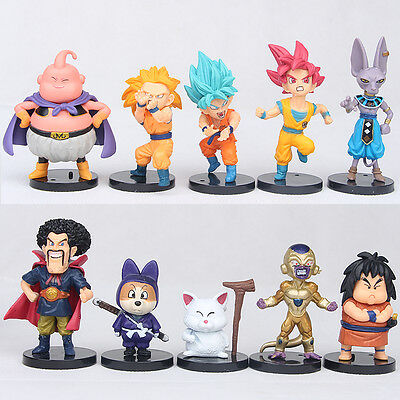 "Dragon Ball Z 4"" Mini Figures Lot of 10pcs Super Saiyan Toys Set Collection Gift"