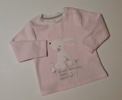 Early Days Baby girls Soft Pink Long Sleeve Jumper 18-24 Months Bunny Rabbit Top