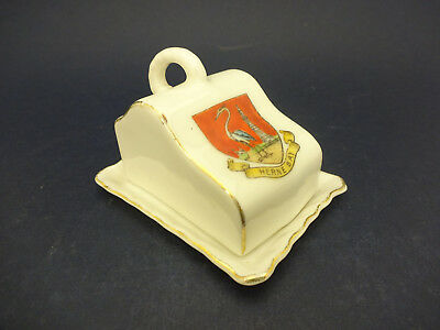 Gemma China Model of a Cheese Dish, 2 Pieces, with Herne Bay Crest