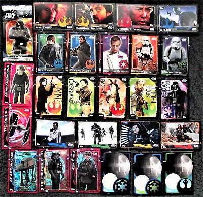 Bundle 90+ Topps Star Wars Rogue One 2016 Trading Cards Bundle Inc. Foil Cards