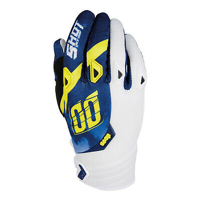 Shot Clearance Devo Husqvana Blue Yellow Motocross Enduro Off Road Race Gloves
