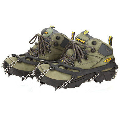 Camping Hiking Hunting Snow Ice Anti-slip Shoes Covers Spike Cleats Crampons New
