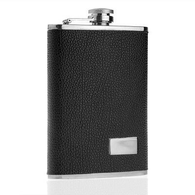9oz Drink Wine Liquor Alcohol Hip Flask Stainless Steel Leather Pocket travel