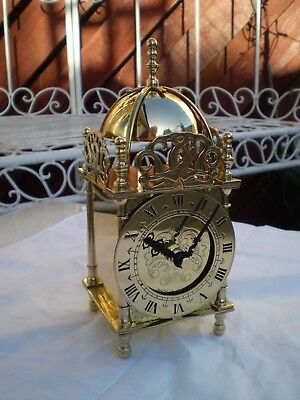 Smiths Brass Lantern Clock lovely condition make a lovely present for someone