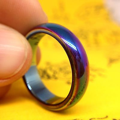 Leklai Rainbow 7 Color Ring Thai Amulet  Wicca Lucky Power Occult Metal Mineral