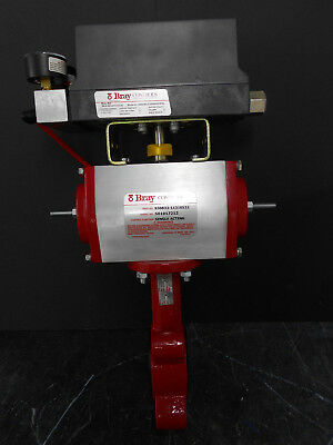 Bray Model Series 6A Electro-Pneumatic Positioner W/ Actuator & Butterfly Valve