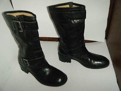 11ddcb562a1 FRANCO SARTO LEATHER Motorcycle Fashion Boots Size 7.5 M Women's