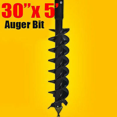 """30""""x 5' Auger Bit HDC 2"""" Hex, For Difficult Digging Conditions,Made In USA"""