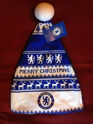 Chelsea FC Official Merchandise Christmas Hat Football Printed Nordic Style Xmas