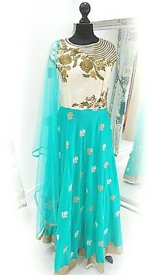 Readymade bollywood style indian asian designer anarkali suit dress