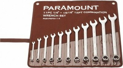 """Paramount 11 Piece, 1/4 to 15/16"""" Combination Wrench Set Inch Measurement Sta..."""