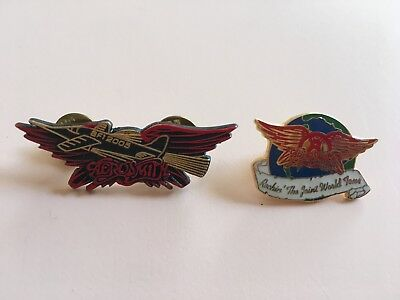 Lot of 2 Aerosmith pins 2005 AF1 Aero Force One fan club Rockin' The Joint Tour