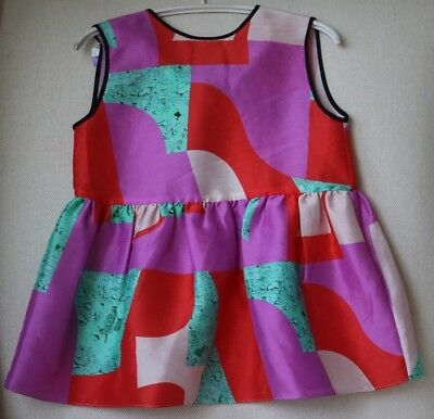 Roksanda Blossom Girls Silk Graphic Dress 2 Years