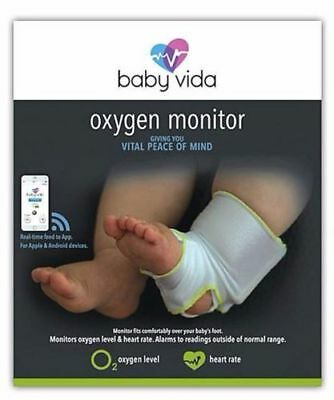 Baby Vida Oxygen Level Heart Rate Monitor 0-12 Months Bluetooth Brand New In Box