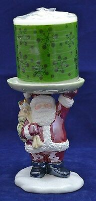 CHARMING Avon Festive Holiday Candle Holder with Candle ~ Santa ~ NEW IN BOX