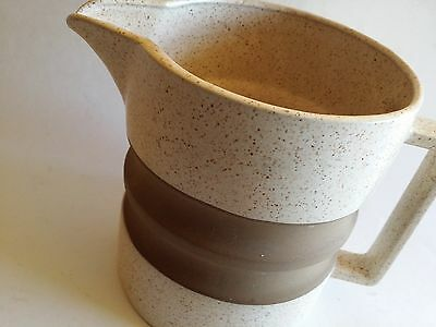 Vintage Mid Century  Danish Modern TAN BROWN POTTERY PITCHER HEATH STYLE WATER