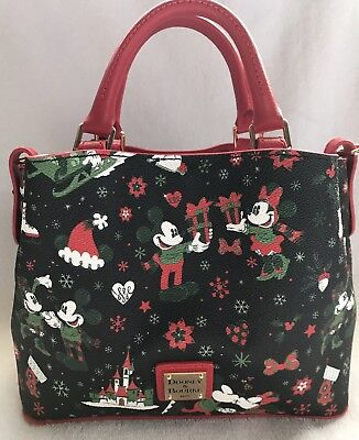 Disney Dooney & and Bourke Christmas Woodland Winter Holiday Tote Purse Bag 7