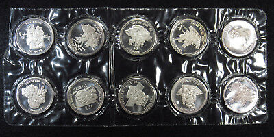 SEALED Compete Set 10 Amendments .999 Fine Silver Round 1 Troy Oz. 10 ROUNDS