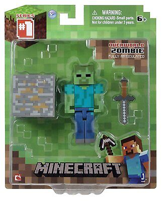 Minecraft 3-inch Zombie Action Figure Recreates Scenes kids toy Gift