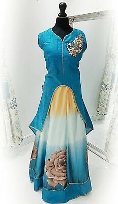 Readymade bollywood style indian asian designer anarkali suit/skirt and top xl