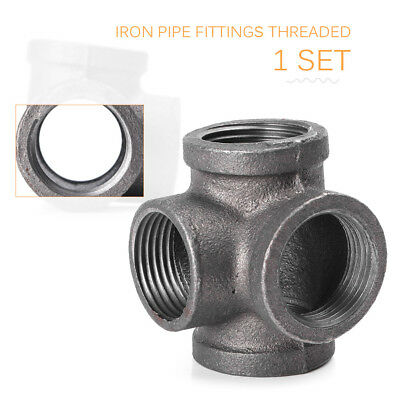 "3/4"" Side Four Ways Outlet Elbow 90° Solid Pipe Malleable Iron Fittings Threaded"