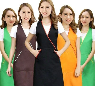 Anti Oil Pocket Work Apron for Nail Manicure Technician Waiter Chef Cleanup Cafe
