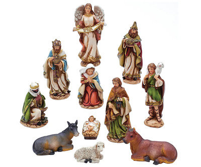 """11 Piece 6"""" Christmas Nativity Beautifully Detailed and Painted Colorfully Figur"""